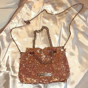 Rose Gold and Silver Sequin Purse